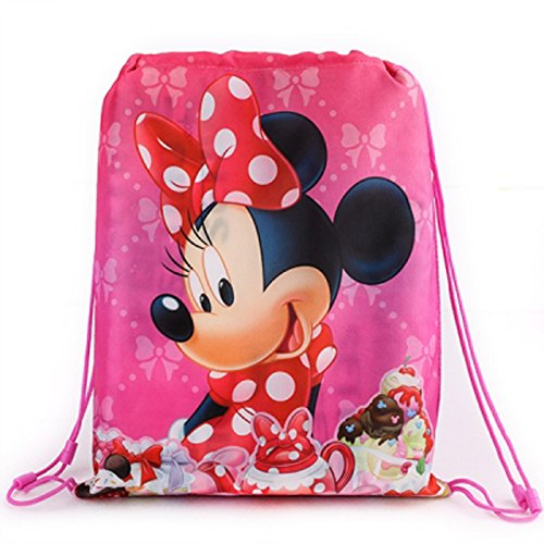 Minnie Mouse Sport Bag, Gym Bag, Shoe Bag-Waterproof Wipe Clean (U069) by Minnie Maus