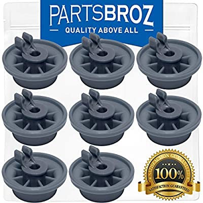 165314 (8-Pack) Lower Dishrack Wheel for Bosch Dishwashers by PartsBroz - Replaces Part Numbers 00165314, AP2802428, 420198, 423232, AH3439123, EA3439123, PS3439123 & PS8697067