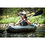 Sevylor Quikpak K5 1-Person Kayak , Gray 15 5-minute setup lets you spend more time on the water Easy-to-carry backpack system turns into the seat 24-gauge PVC construction is rugged for lake use
