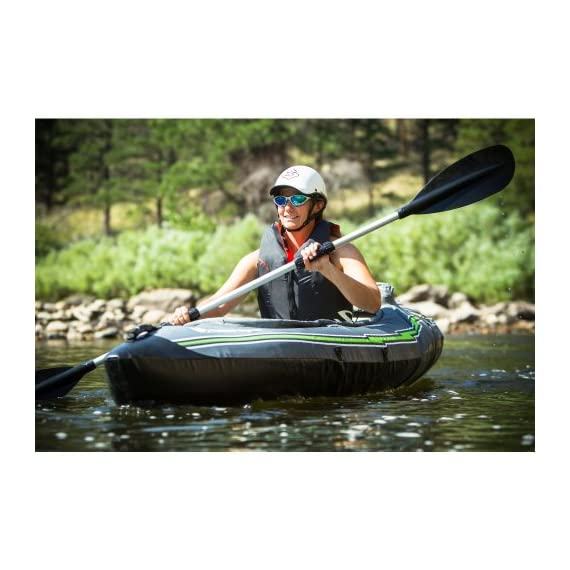 Sevylor Quikpak K5 1-Person Kayak , Gray 4 5-minute setup lets you spend more time on the water Easy-to-carry backpack system turns into the seat 24-gauge PVC construction is rugged for lake use