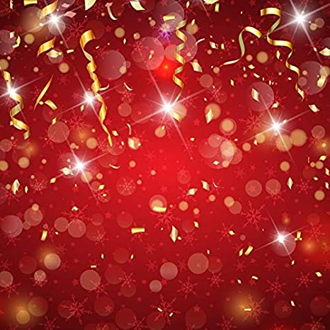 GoEoo Vinyl 5x5ft Photography Background Shiny Fireworks Colorful Lighting Flowers Festival Stage Show Performance Black Night Background Celebrating Christmas Backdrops Photo Studio Props