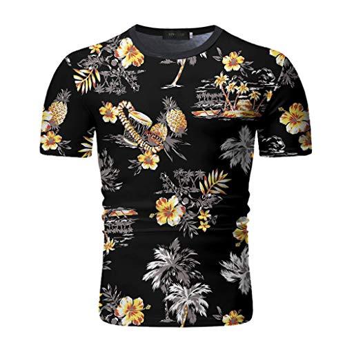 Yowablo Herren Poloshirt Polohemd Stehkragenshirt Kurzarmshirt Funktionsshirt Sportshirt Fitness Shirt Tee T-Shirt Sporthemd Trainingsshirt Sportswear T-Shirt (L,3Schwarz)