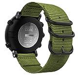 MoKo Pulsera para Suunto Core, Pulsera Deportivo de Reloj de Silicona, Pulsera Ajustable con Cierre de Clip - Ejercito Verde