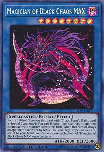 Yu-Gi-Oh! - Magician of Black Chaos MAX - TN19-EN002 - Prismatic Secret Rare - Limited Edition - 2019 Gold Sarcophagus Tin