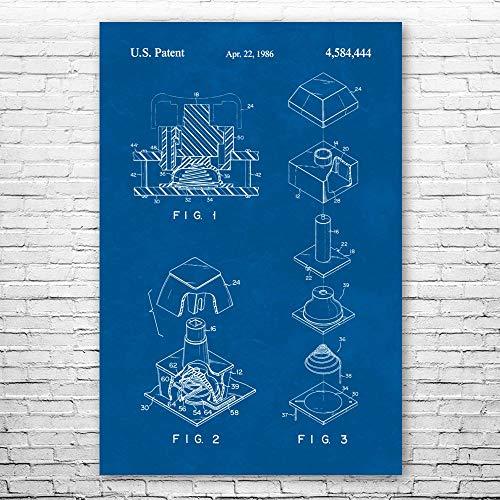 Patent Earth Topre Mechanical Keyboard Switch Poster Print, IT Tech Gift, Keyboard Wall Art, Programmer Gift, Computer Lab Art
