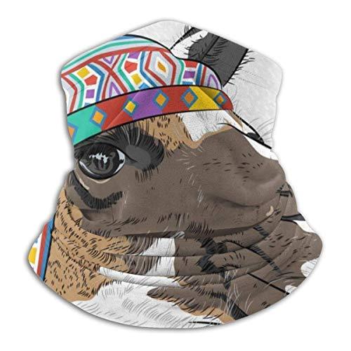 Trista Bauer Pasamontañas Llama Alpaca con un sombrero de color étnico Perú elegante diadema mágica