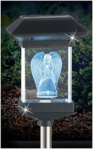 Crystal Light 14' Solar LED Memorial 3D Guardian Angel by JUMBL