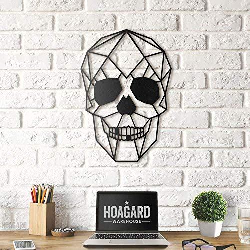 Hoagard Skull XL - Cuadro decorativo para pared (metal, 65 x 90 cm), diseño de calavera