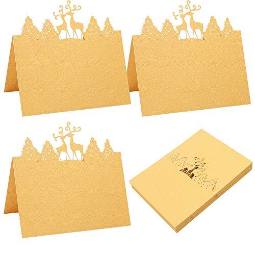 Tarjetas De Lugar Nombre 50 Navidad Tarjetas De Localización De Tarjetas De Banquete De Boda pequeñas tarjetas de tienda de campaña Para Bodas Fiestas Banquete Formales o Personales Decoración- D