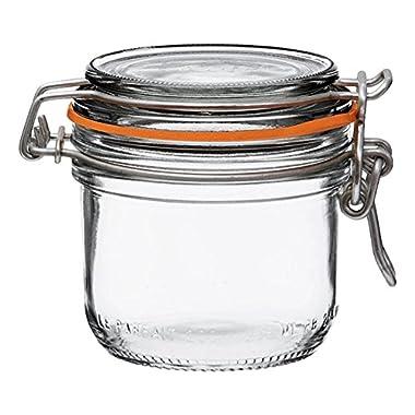 6 Le Parfait Super Terrines - Wide Mouth French Glass Preserving Jars - Preserve, Store, Serve, Décor (6, 200ml - 7oz - Half Pint)