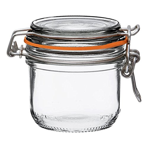 Le Parfait Super Terrine - 80ml French Glass Canning Jar w/Straight Body, Airtight Rubber Seal &...