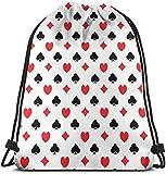 Kingam, borsa da palestra per giovani uomini e donne, borsa da casinò con coulisse, per escursioni all'aperto, spiaggia, viaggi, durevole zaino con cordino, attrezzatura unica unisex