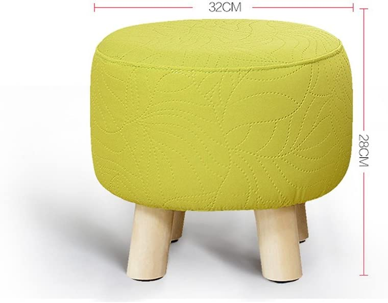 SLL- Tabouret en bois massif salon chaussures tabouret mode créatif maison banc Fauteuils et Chaises (Color : E) C