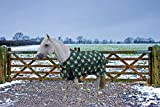TuffRider 1200D Ripstop 220 GMS Polyfill Pony Horse Print Standard Neck Two Tone Pony Turnout Blanket