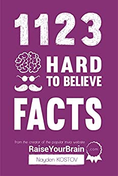1123 Hard To Believe Facts: From the Creator of the Popular Trivia Website RaiseYourBrain.com (Paramount Trivia and Quizzes Book 1) by [Nayden Kostov, Yuliya Krumova, Jonathon Tabet]