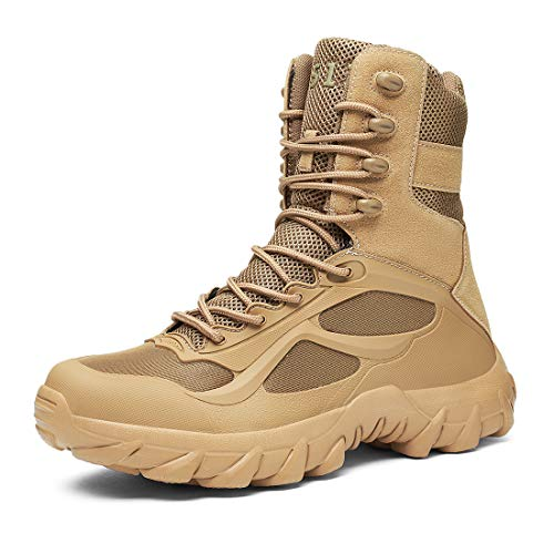 Niber Herren Wanderstiefel leichte Trekkingstiefel Atmungsaktive Military Boots US Army Schuhe für Outdoor Camping Wandern Bergsteigen Wüsten Offroad