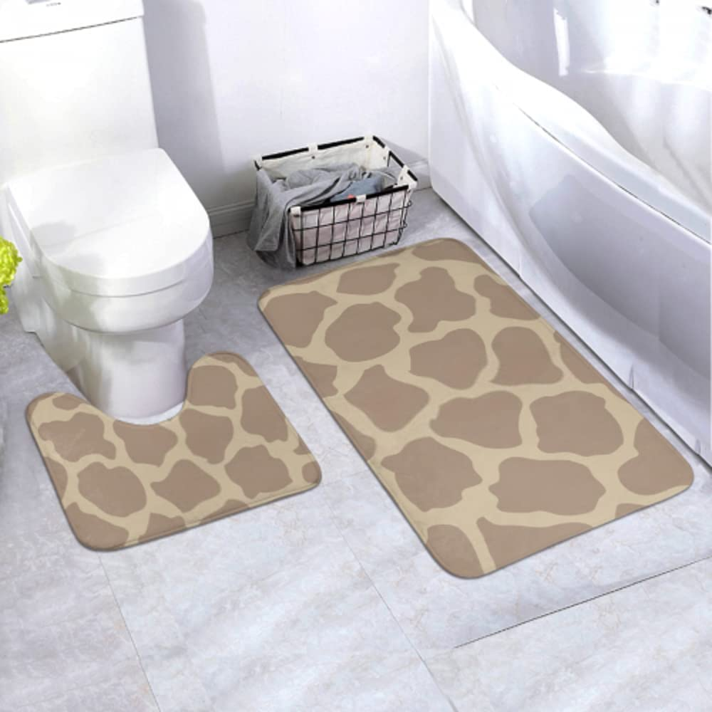 Bath At the price of surprise Mat Set Spring new work Giraffe Skin Classical Animal Piec Print Seamless 2