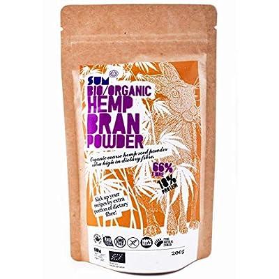 Plant Based Organic Hemp Bran Powder - High Fibre - High Protein - Raw - Vegan - Gluten Free - 200g