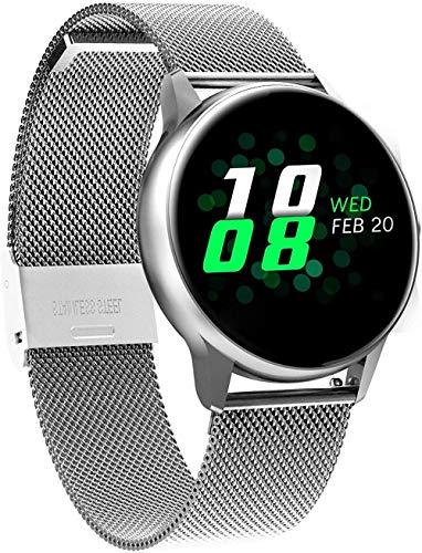 JSL Bluetooth relojes inteligentes para iPhone altitud barométrica ultravioleta control de frecuencia cardíaca contando ejecución regalos para esposa-C