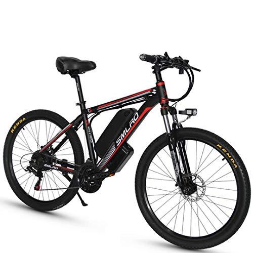 ZH 26 Zoll Elektrofahrräd E-Bike, 500W/1000W E-Mountainbike für Erwachsene Männer Frauen, 48V13AH Abnehmbarer Lithium Akku, Shimano 21 Gang-Schaltung