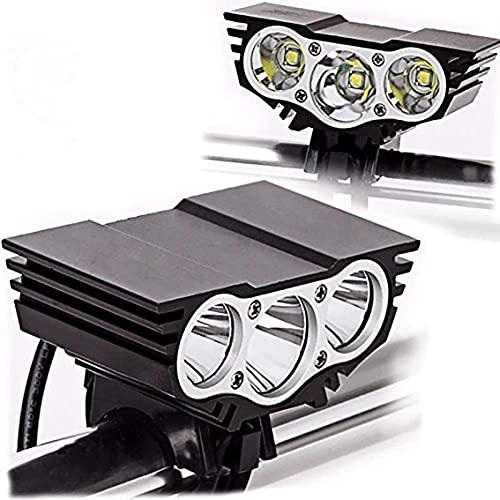 LVYE1 MRMF LED Fahrradlicht Set, 8000 Lumen Fahrradbeleuchtung Wiederaufladbare wasserdichte Beleuchtung Mit Powerbank-Funktion,Fahrradbeleuchtung 4 Modi Für Mountainbike, Elektrofahrrad, E-Bike