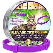 Toldi Flea-Treatment-Cat, Flea-Collar-for-Cats Adjustable Small-Medium-Large, 8 Months Tick & Lice Repellent for Kitten, Waterproof Pet Spot On Flea Treatment Protection Allergy Free (CAT PURPLE)