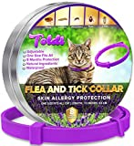 Toldi Flea-Treatment-Cat, Flea-Collar-for-Cats Adjustable Small-Medium-Large, 8 Months Tick & Lice Repellent for Kitten