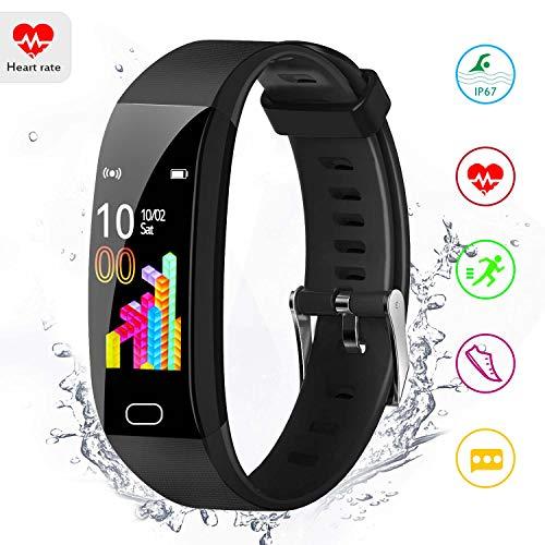 Inskondon fitness armband,Aktivitätstracker, Fitness Tracker mit Blutdruck / HR Monitor,mit Farbmonitor, Schrittzähler, Kalorienzähler, Sport-tracking für Frauen, Männer, Kinder