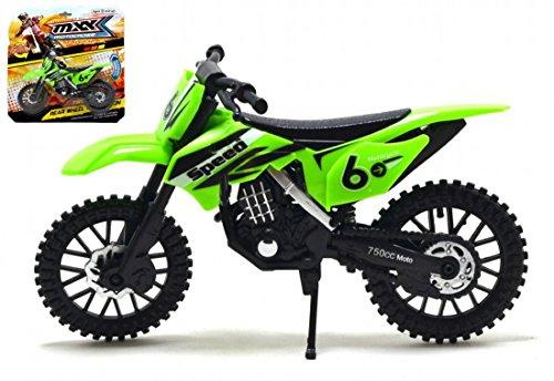 MXX Grün Motocross Motorrad Maßstabgetreues Modell Motorrad Spielzeug Fahrrad MXS Spielzeug Motorrad
