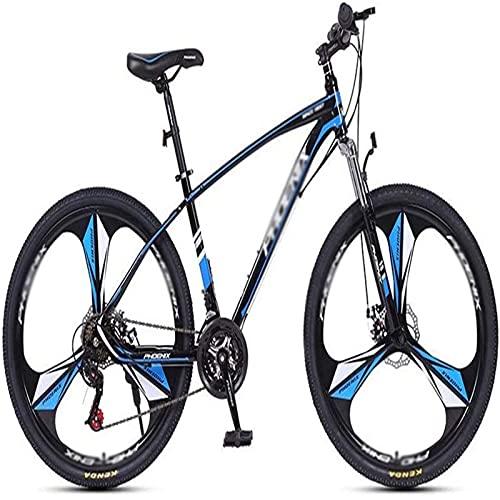 NoMI Bicicletas Marco Montaña Marco De Acero Disco Doble Freno Delantero Confort Acero Carbono Ligera 26 Pulgadas 27 Velocidades para Mujeres Hombres Estudiante,Azul