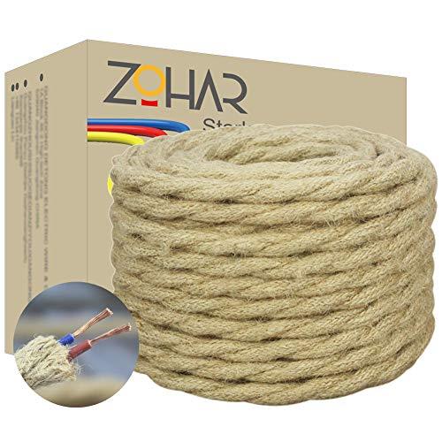 Cable de tela de 2 núcleos de 0,75 mm², 5 m, estilo...
