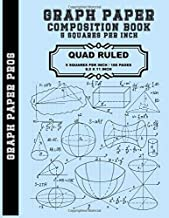 Graph Paper Composition Book - 5 Squares Per Inch: Graph Paper Quad Rule 5x5 / 8.5 x 11  / Bound Comp Notebook