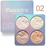 Highlighter Palette, Baking Highlighter Bronze-Puder Langlebige Wasserfeste Gebackene Highlighter...