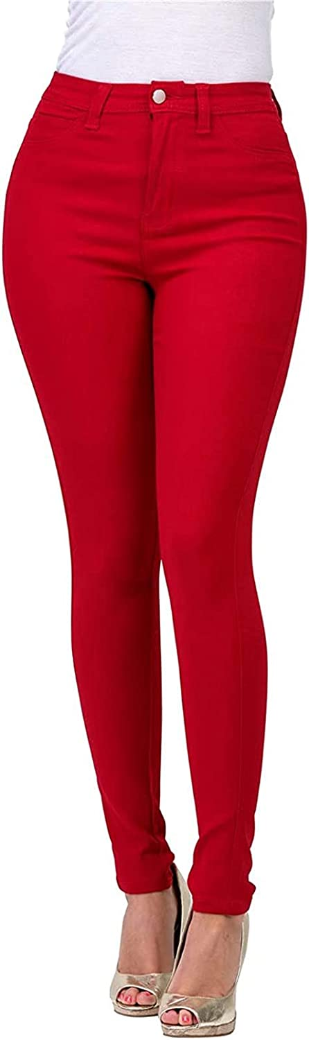 Women's Stretchy Jeggings High Waist Leggings Skinny Jeans with