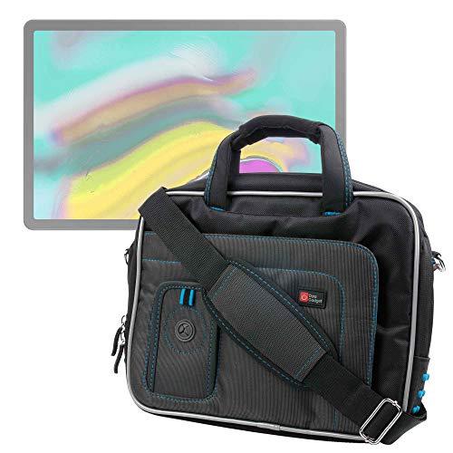 """Sacoche (noir/bleu) de transport pour Samsung Galaxy Tab S5e / S5e LTE 10.5"""" T720/T725 (4G), Tab S4 10.5"""" T830, Galaxy Tab S2 / S2 VE 9.7"""" et Tab A 10.1 (2016) tablettes 10,1"""" - bandoulière amovible"""