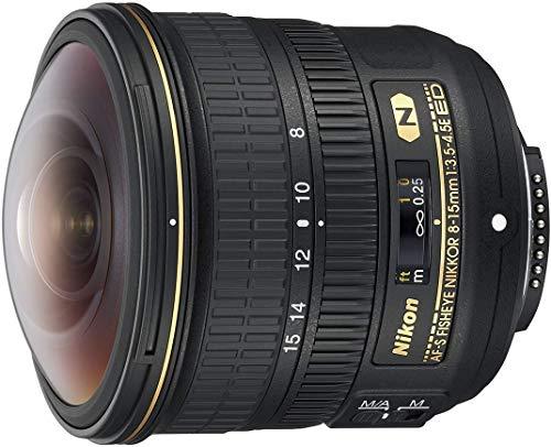 Nikon AF-S FISHEYE NIKKOR 8-15mm f/3.5-4.5E ED 8-15mm f/3.5-29 Body Only Camera Lens, Black (Renewed)
