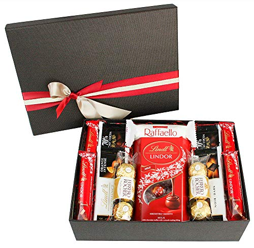 Chocolate Hamper Gift Selection Gift Box Present for All Occassions - Favourite Lindt Treats Set 1