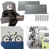 Parpyon® Portabicicletas de pared gancho bici pared portabicicletas de techo, portabicicletas, soporte de pared para bicicleta de suelo, varios modelos (Pedal)