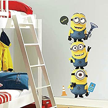 RoomMates Despicable Me 2 Minions Giant Peel And Stick Giant Wall Decals