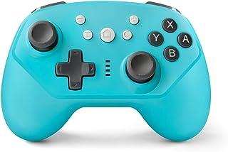 [最新版2020]Tcbasrt Nintendo Switch コントローラー HD振動 連射機能 ジャイロセンサー機能搭載 無線Bluetooth接続 人間工学 高耐久ボタン スイッチ コントローラー 全てシステムに対応 (藍)