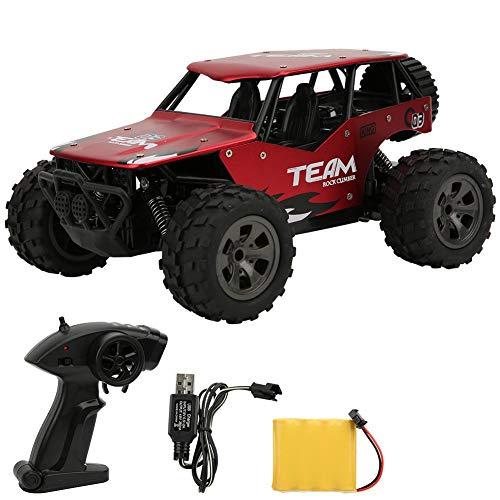 Nannday Coche de Control Remoto, 1:18 Aleación 2.4G RC Off Road Simulación de Juguete, Modelo de vehículo de Carga 4WD Crawler, Regalos para niños Niños Adultos, Colección de Juguetes(Red)