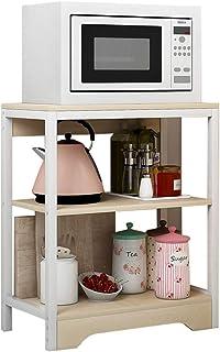 Horno de microondas, Estante Universal for el hogar, Estante de Almacenamiento de Cocina de pie/Soporte for Horno, Armario de Madera Multifuncional
