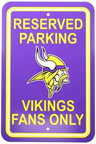 "Fremont Die NFL Minnesota Vikings Team Sign, 12"" x 18"", Reserved Parking Sign"