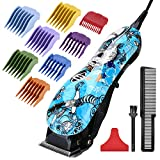 HONGNAL Unique Hair Clipper for Kids/Men Hair Cutting Kit, 2000mA Powerful Electric Cutting Trimmer Set, Pro Cordless Trimmer with Guide Comb and Sharp Blade