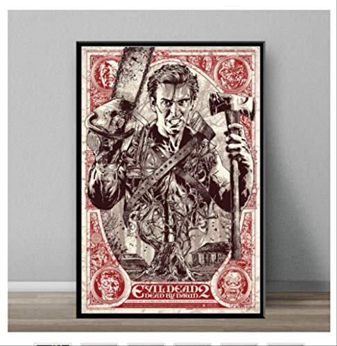 DPFRY Leinwand Malerei Evil Dead Classic Horrorfilm Kunst Malerei Leinwand Poster Wand Dekoration Mw3T 40X60 cm Ohne Rahmen