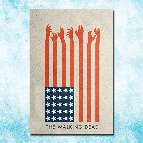 LOIUYT Art Silk Canvas The Walking Dead Poster Poster Immagine Decorazione murale 50x75 cm