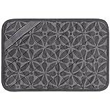 Envision Home Heat-Resistant Printed Trivet Mat - 11' x 17', Grey Print