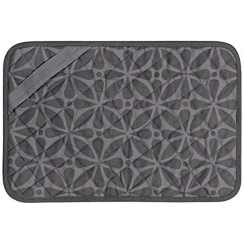 Envision Home Heat-Resistant Printed Trivet Mat - 11  x 17 , Grey Print