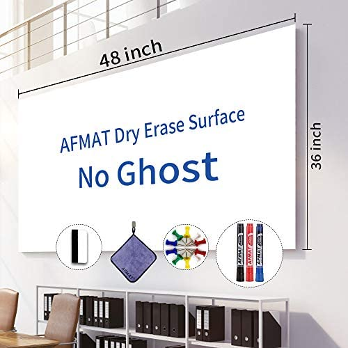 White Board Roll 4 x3 Whiteboard Post Paper 48 x 36 inches Dry Erase Contact Paper AFMAT Whiteboard product image