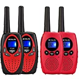 Retevis RT628 Walkie Talkies for Kids,22 Channel Kids Walkie Talkies Toys(Red, 2 Pack) and Retevis RT628B Kids Walkie Talkies 4-8 Year Old, Battery Operated Kids Toy for Outside Adventure(Red,2 Pack)